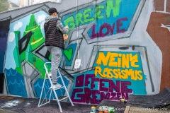 Graffit-Aktion Outreach (Foto: www.salecker.info)