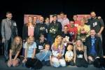 Teilnehmer und Jury des zweiten Casting-Tages (oben mittig: Ben)