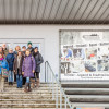 Studenten und Lehrkräfte der Uni Mühlheim unterwegs im FF (Foto: Ralf Salecker)