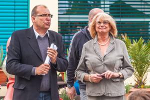 Gerlinde Olm und Gerhard Hanke beim Frühlingsfest am Bauspielplatz
