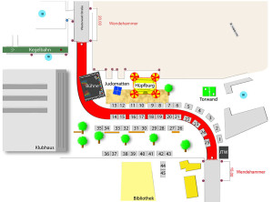 Belegungsplan für das 10. Stadtteilfest