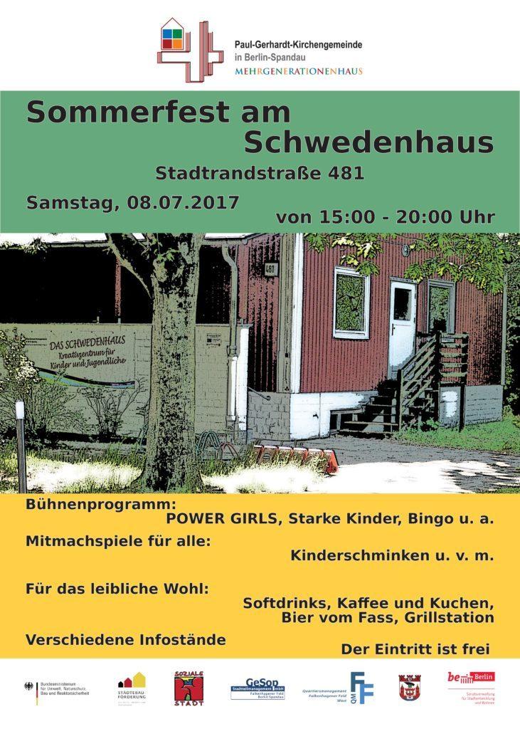 Schwedenhaus Berlin sommerfest 2017 am schwedenhaus quartiersmanagement falkenhagener