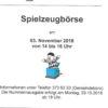 Spielzeugbörse am 3.11.2018 in der Paul-Gerhardt-Kirchengemeinde