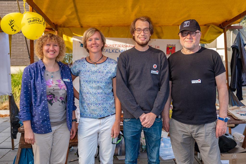 Das QM-Team Falkenhagener Feld West v.l.n.r. Elena Melichowa-Haß, Tina Waleschkowski, Kevin Krey, Karl-Heinz Fricke (Foto: Ralf Salecker)